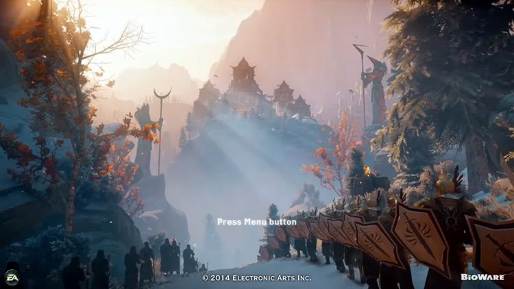 Dragon Age: Inquisition Title Screen
