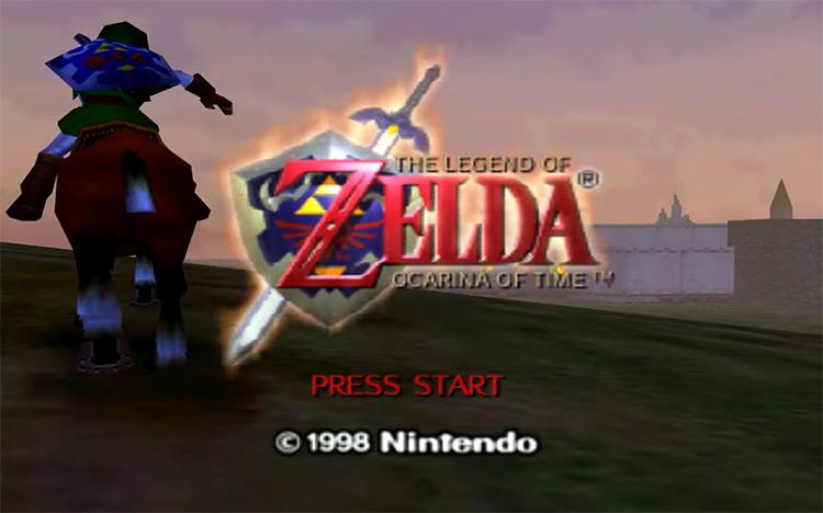 Legend of Zelda: Ocarina of Time (1998) N64 Title Screen