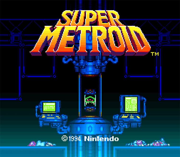 Super Metroid (1994) title screen