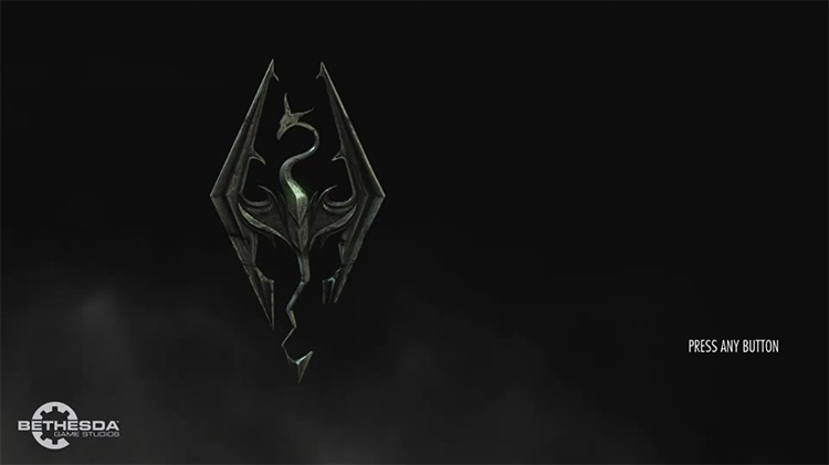 Elder Scrolls V: Skyrim title screen