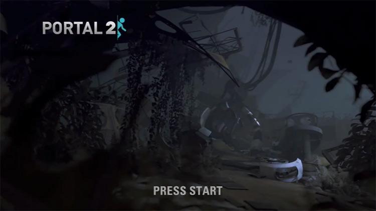 Portal 2 gameplay title screen