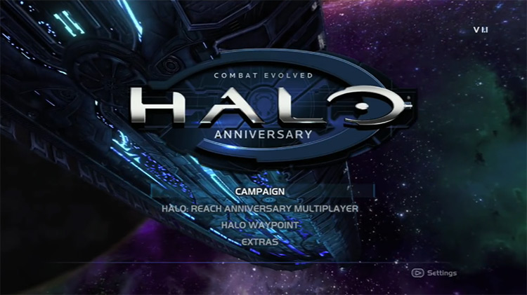 Halo: Combat Evolved (2001) Title Screen