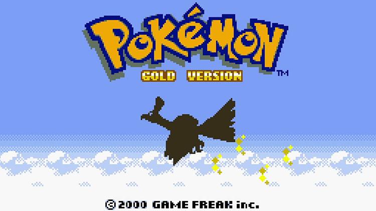Pokémon Gold & Silver (2000) GBC title screen