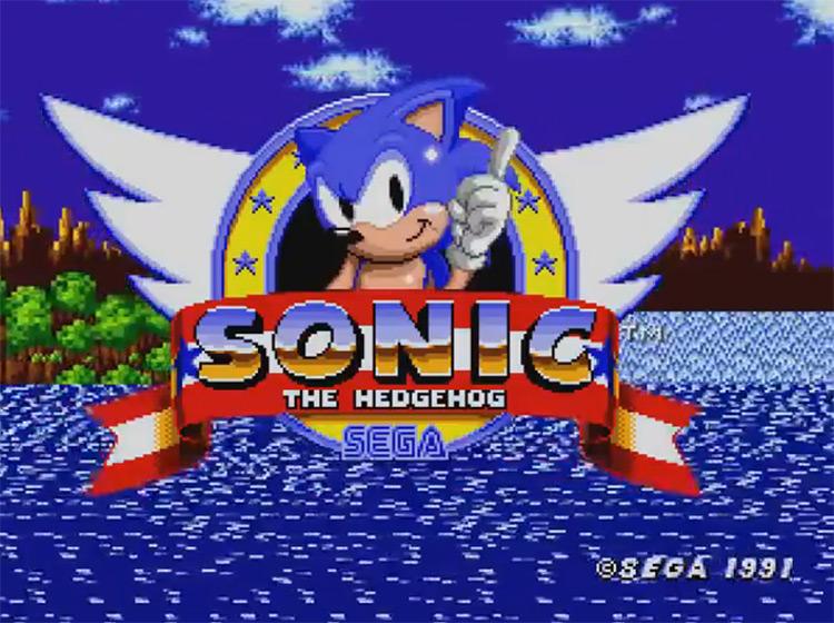 Sonic the Hedgehog (1991) Title Screen