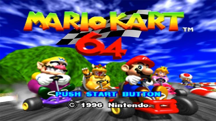Mario Kart 64 (1996) title screen