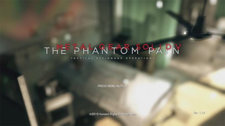 Metal Gear Solid V: The Phantom Pain (2015) Title Screen