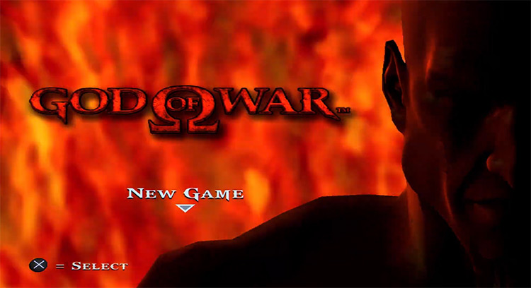 God of War (2005) Title Screen