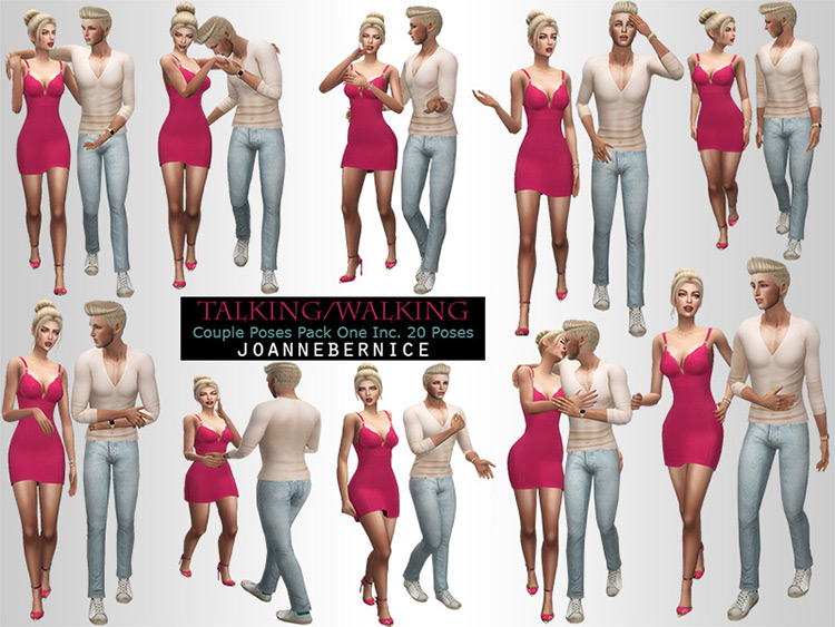 Talking & Walking Couple Poses / The Sims 4