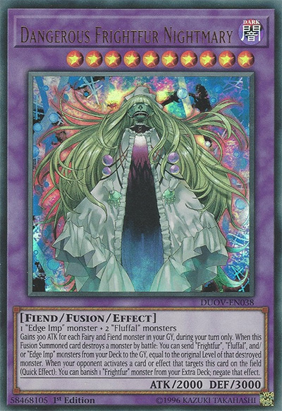 Dangerous Frightfur Nightmary Yu-Gi-Oh! Card