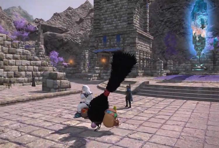 Spriggan Stonecarrier Black Fuzzy Creature Mount / FFXIV