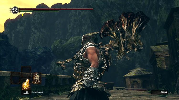 DS1 Demon's Greataxe gameplay screenshot