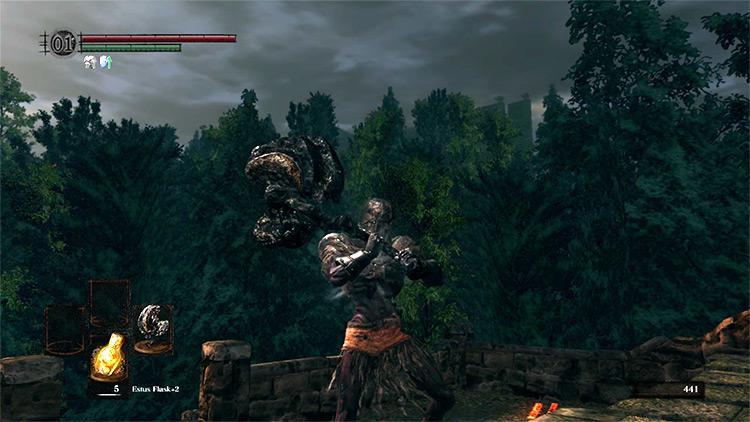DS1 Dragon King Greataxe gameplay screenshot