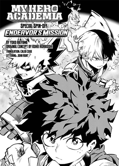 My Hero Academia: Endeavor's Mission cover from Shonen Jump