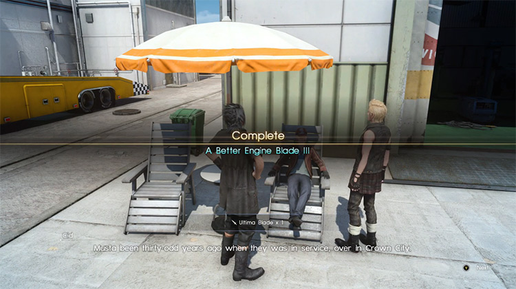 A Better Engine Blade III Side Quest in FF15