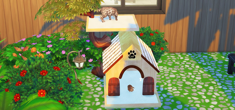 Cat Tree House Object CC in The Sims 4