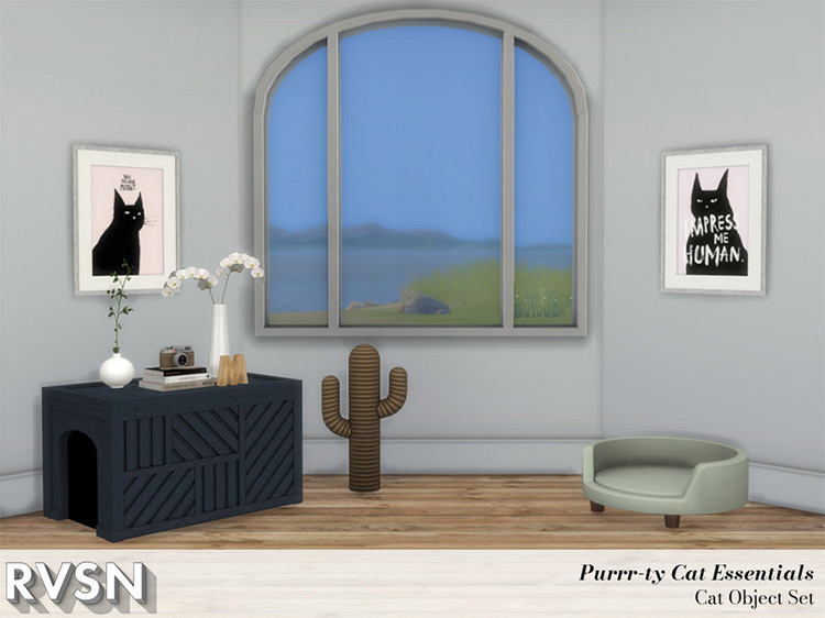 Purrr-fect Cat Essentials Set for The Sims 4