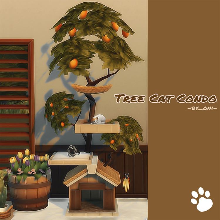 Tree Cat Condo CC for The Sims 4