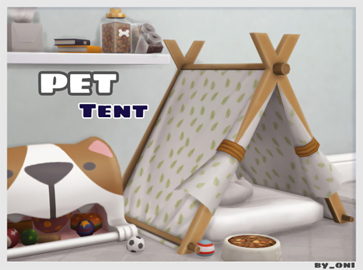 Pet Tent CC for The Sims 4