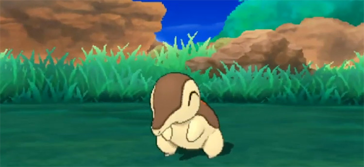 Shiny Cyndaquil in Pokémon Sun and Moon