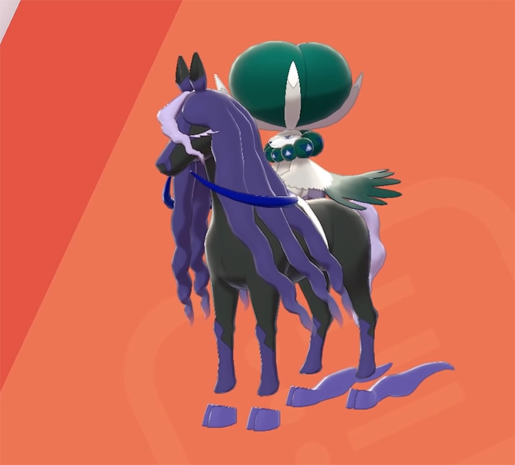 Shiny Calyrex Shadow Rider in Pokémon Sword and Shield: The Crown Tundra