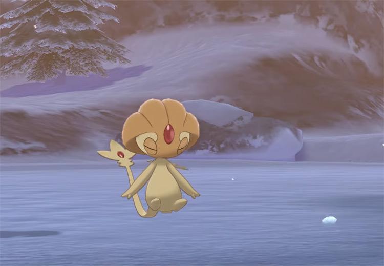 Shiny Uxie in Pokémon SWSH
