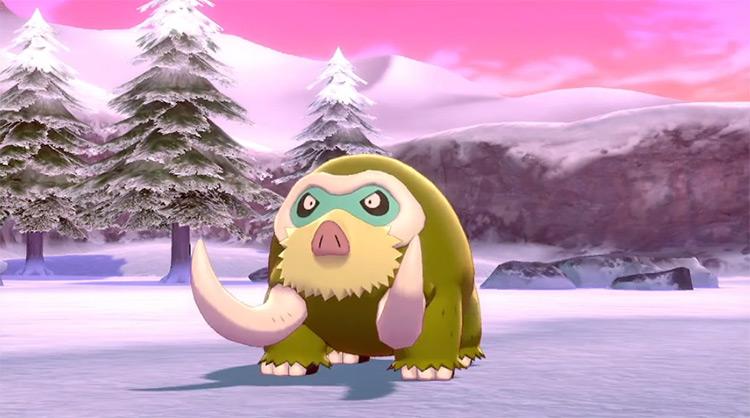 Shiny Mamoswine in Pokémon SWSH