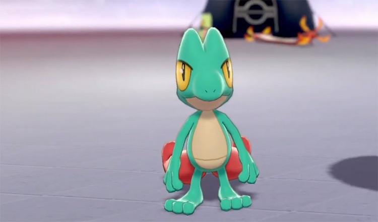 Shiny Treecko from Pokemon Sword (Camp)