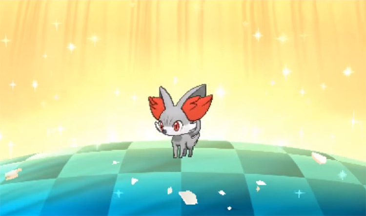 Shiny Fennekin in Pokémon Moon