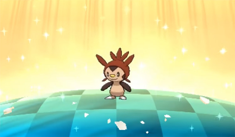 Shiny Chespin in Pokémon Sun and Moon