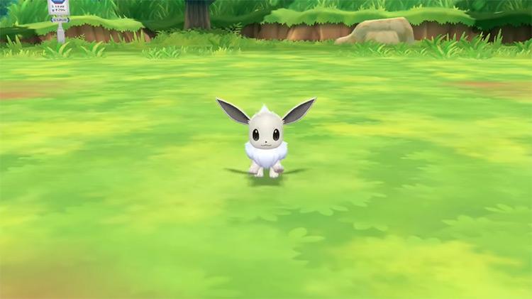 Shiny Eevee in Pokémon: Let's Go, Eevee!