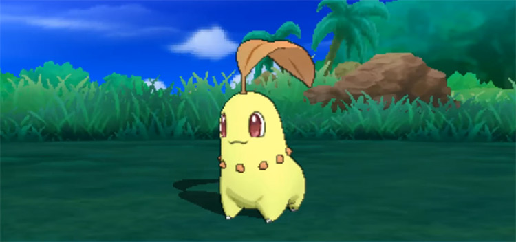 Shiny Chikorita in Pokémon Sun and Moon
