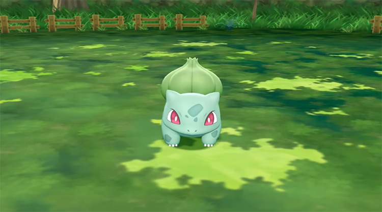 Shiny Bulbasaur in Pokémon: Let's Go, Pikachu!