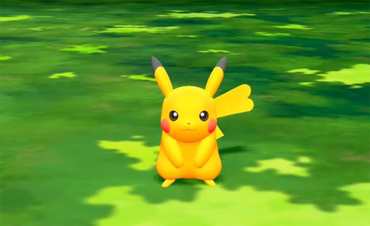 Shiny Pikachu in Pokémon: Let's Go, Pikachu!