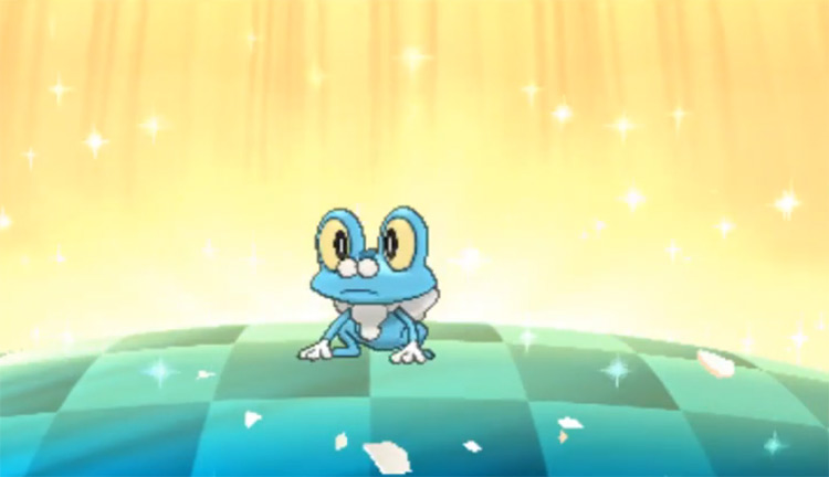 Shiny Froakie in Pokémon Sun and Moon
