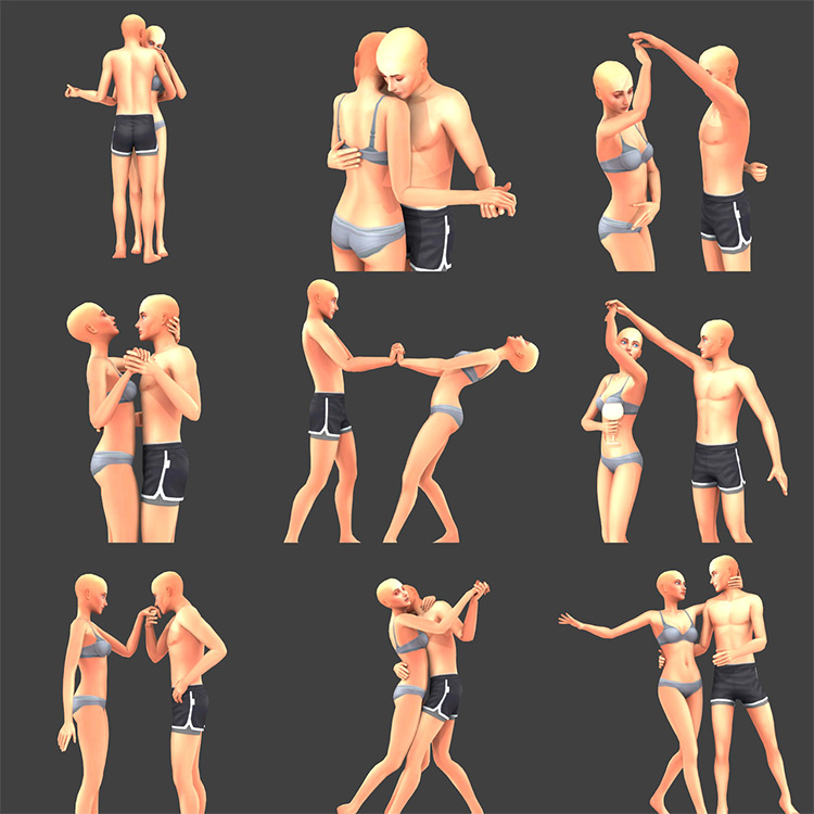 These Dancers Pose Preview for Sims 4