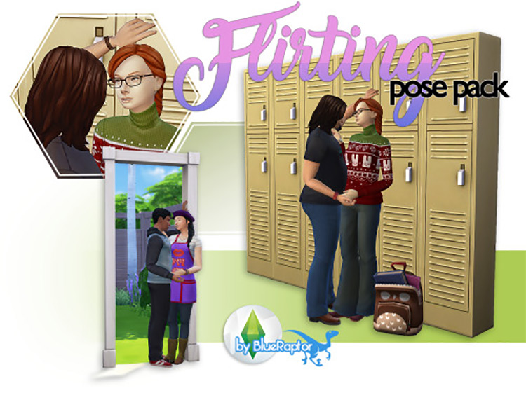 Flirting Pose Pack Set for The Sims 4