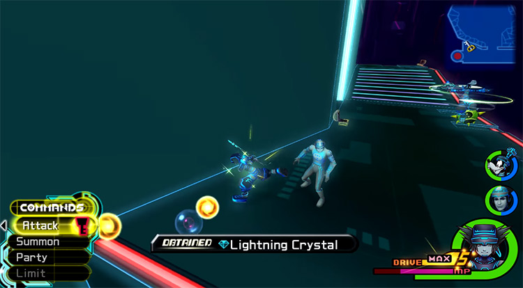 Getting a Lightning Crystal Drop in Space Paranoids / KH 2.5 HD