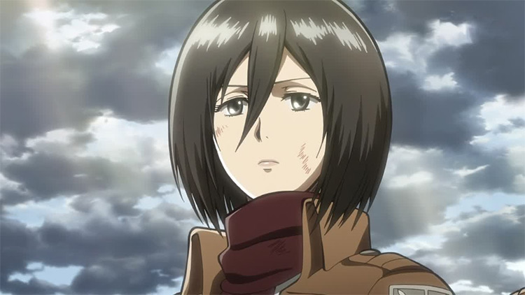 Mikasa Ackerman in Attack on Titan anime