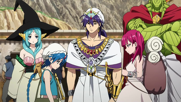 Magi: The Labyrinth/Kingdom of Magic anime