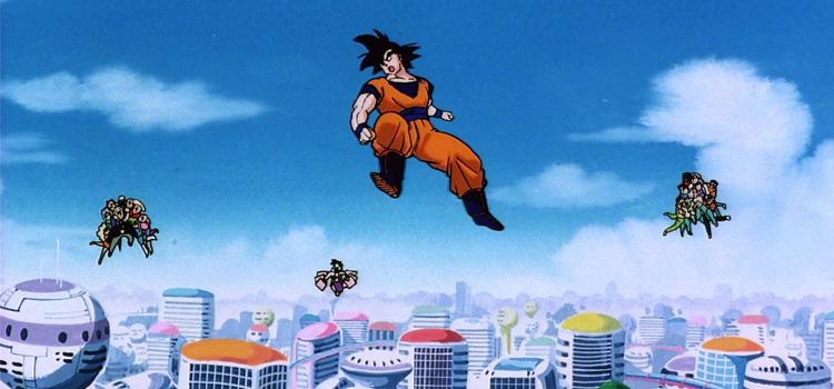 Goku Flying / Dragon Ball Z Android 13 Movie Screenshot