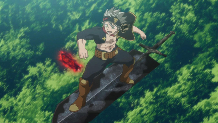 Asta Black Clover anime screenshot