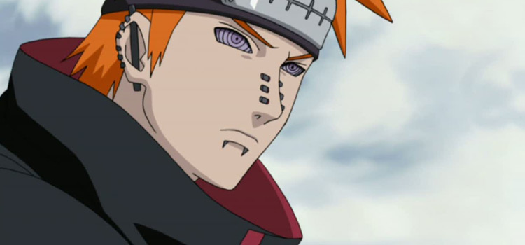 Pain Character Side-view in Naruto Anime
