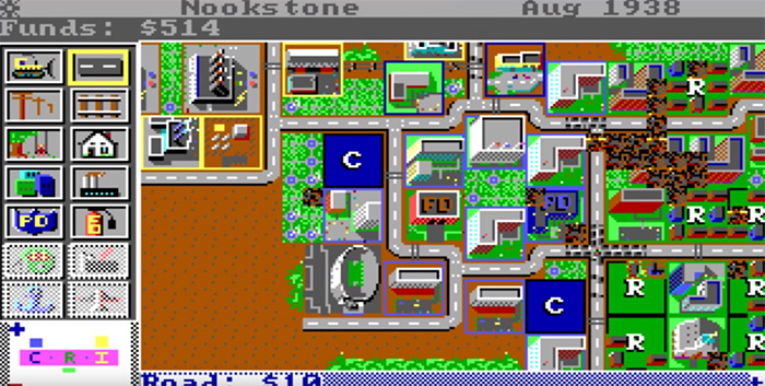 simcity classic game screenshot