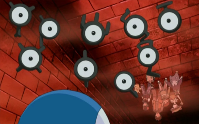 Unown from the anime