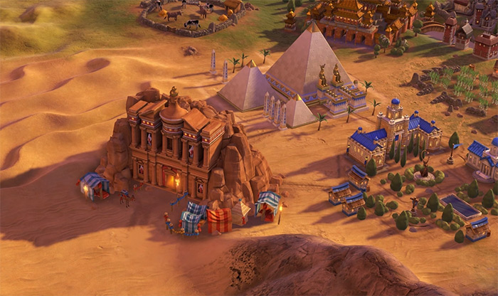 Petra wonder in Civ6