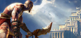 Kratos with weapons in hand