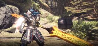 Closeup fire insect glaive MHW