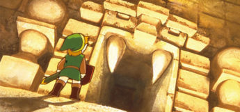 Link outside a dungeon, LoZ concept art