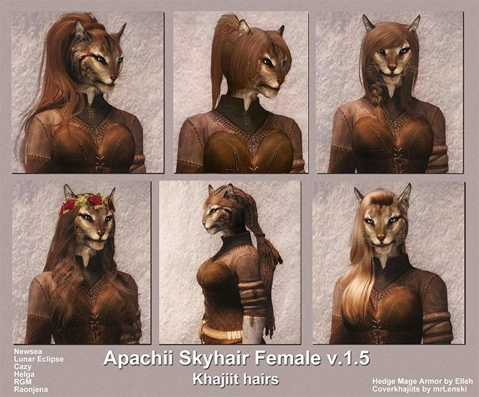 ApachiiSkyHair Skyrim mod