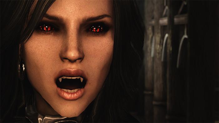 Better Vampire Fangs Skyrim mod